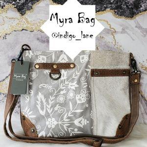 "💙 Myra ""Dove"" Hair-on & Canvas Shoulder Bag"
